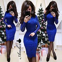 Гипюровое платье с длинным рукавом, размер S M L, фото 3