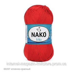 Пряжа Nako Mia Красный