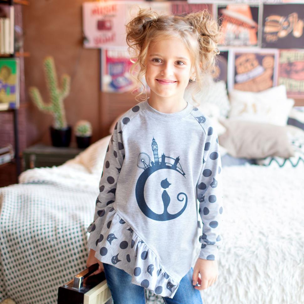 Детский джемпер для девочки DG-16-18 «Лондон нью»