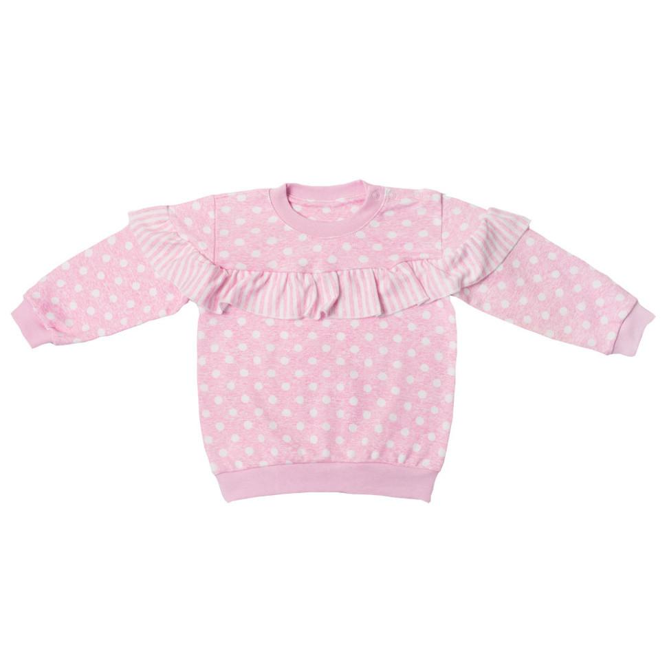 Детский джемпер для девочки DG-05-1-18 «Горошки»