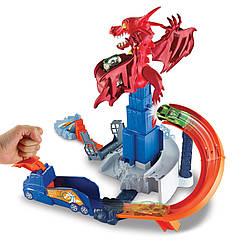 Трек Hot Wheels DWL04 Атака дракона (Битва с драконом). Оригинал Mattel