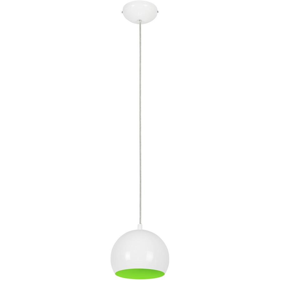 Люстра подвес одноламповая NOWODVORSKI Ball White-Green Fluo 6472 бело-зеленая