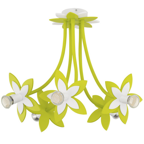 Люстра детская NOWODVORSKI Flowers Green 6901 зеленая