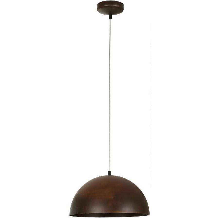 Люстра подвес одноламповая NOWODVORSKI Hemisphere Rust 6367 коричневая