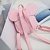 Рюкзак женский мини Mikki кожзам однотонный Розовый, фото 6