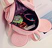 Рюкзак женский мини Mikki кожзам однотонный Розовый, фото 7