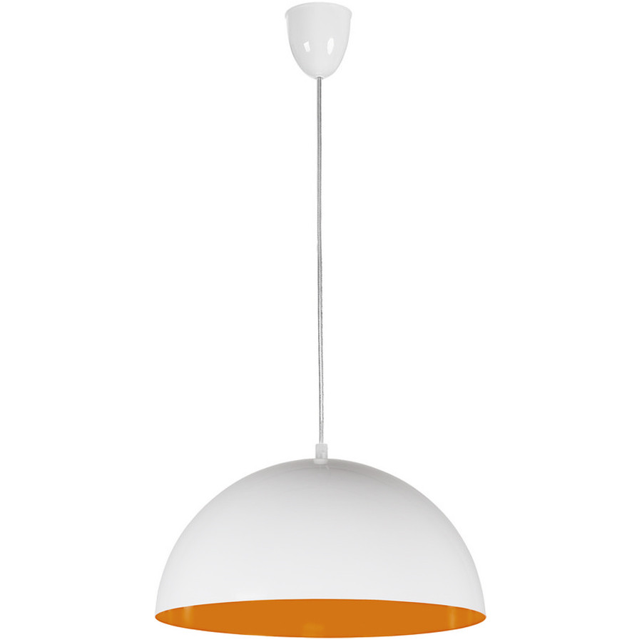 Люстра подвес одноламповая NOWODVORSKI Hemisphere White-Orange Fluo 6374 бело-оранжевая