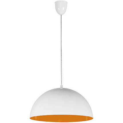 Люстра подвес одноламповая NOWODVORSKI Hemisphere White-Orange Fluo 6374 бело-оранжевая, фото 2