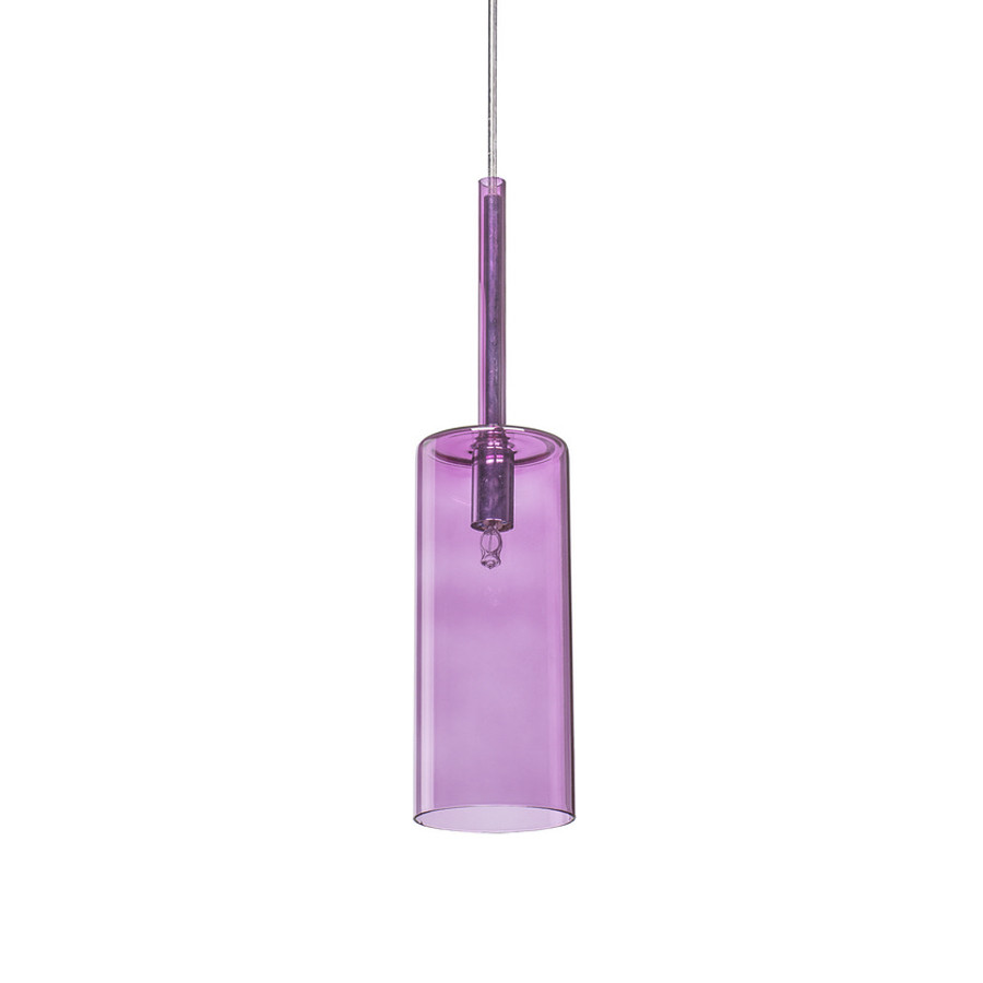 Люстра подвес одноламповая NOWODVORSKI Jess Violet 5774 фиолетовая