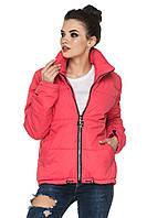Модная демисезонная куртка парка 44-54 батал коралловая, фото 1
