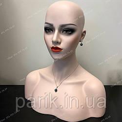 🔵 Манекен, голова красивая женская для парика, бюст, болванка