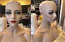 🔵 Манекен, голова красивая женская для парика, бюст, болванка, фото 6