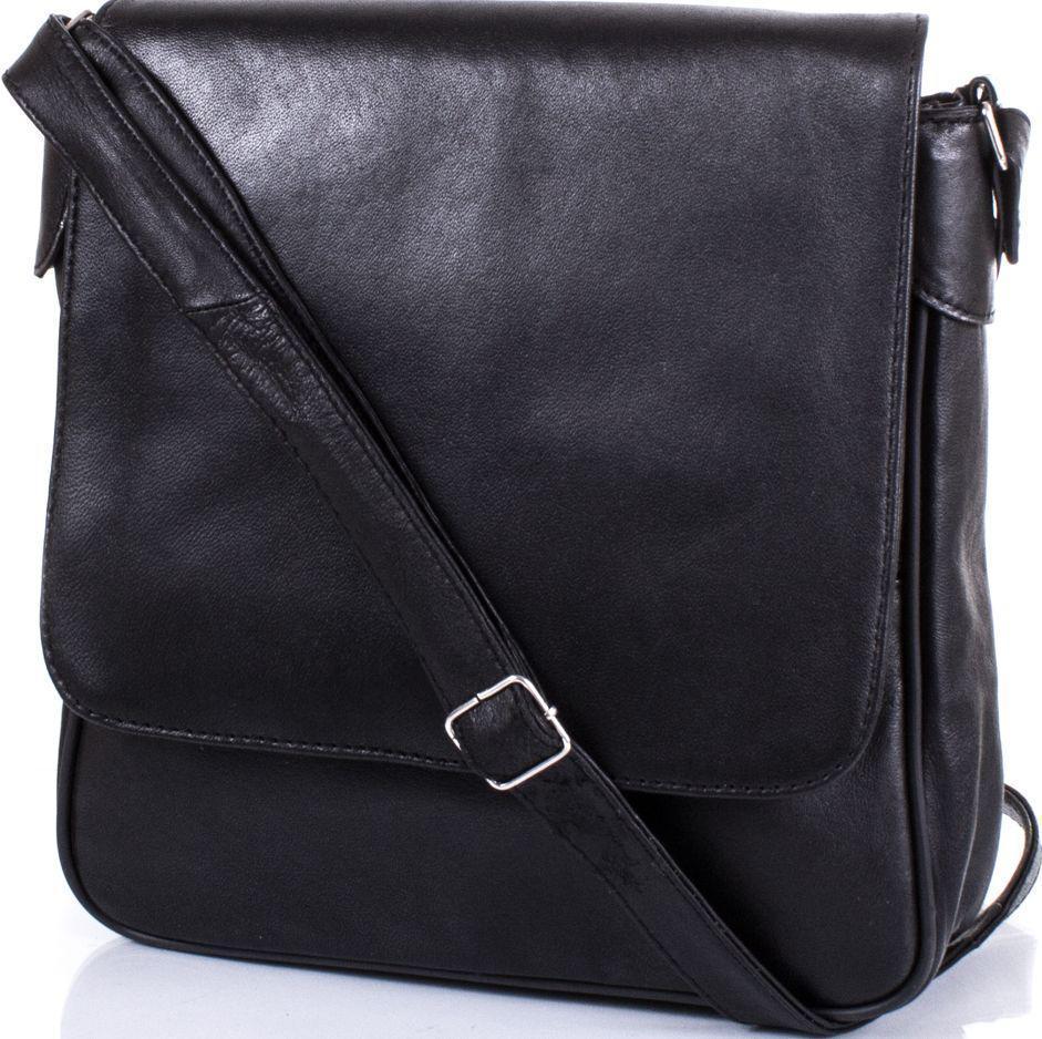 949fb20e99bc Кожаная сумка-почтальонка TUNONA SK2407-2 женская, черная — только ...
