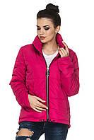 Модная демисезонная куртка парка 44-54 батал малиновая, фото 1