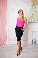 Черная деловая  классическая приталенная юбка  Размер 44-54, фото 1