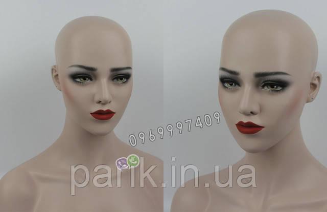 Манекен голова для парика вид спереди