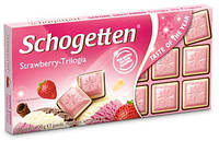 Шоколад молочний SCHOGETTEN STRAWBERRY TRILOGIA полуниця 100г (1/15)