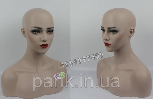 Манекен голова для парика вид справа и слева