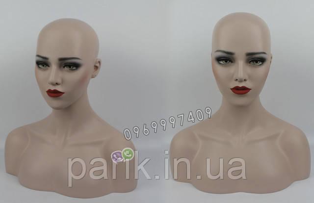 Манекен голова для парика вид спереди разные ракурсы