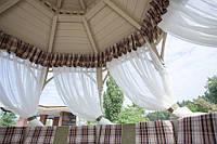 Шторы для террас с пропиткой - Антимоскитные шторы.