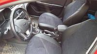 Чехлы на сиденья Ауди А4 Б7 (Audi A4 B7) (модельные, экокожа Аригон+Алькантара, отдельный подголовник), фото 1