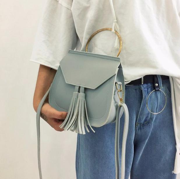 Женская сумка через плечо с ручкой Treysi Серый