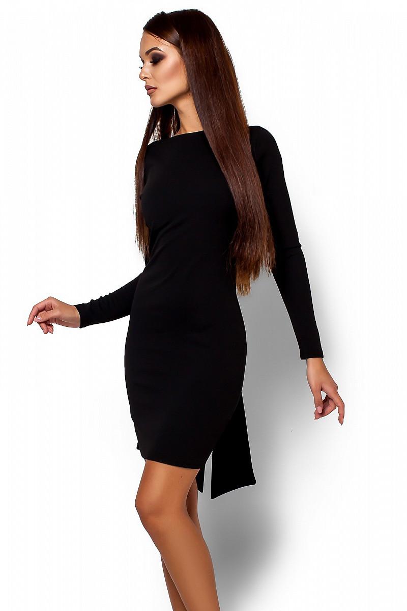 (S, M) Вечірнє чорне плаття з відкритою спиною Amarino