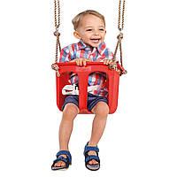 """Детские качели """"Rigid"""", цельное сиденье. Цвет красный."""