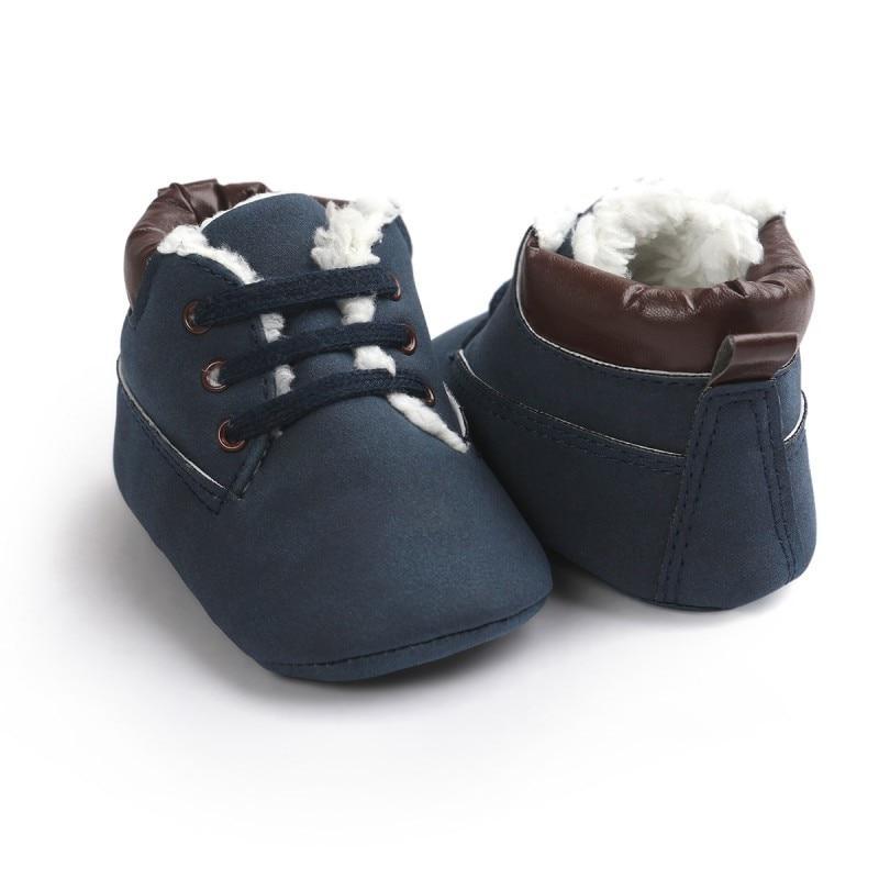 Утепленные пинетки-ботинки для мальчика 12 см.