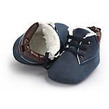 Утепленные пинетки-ботинки для мальчика 12 см., фото 3