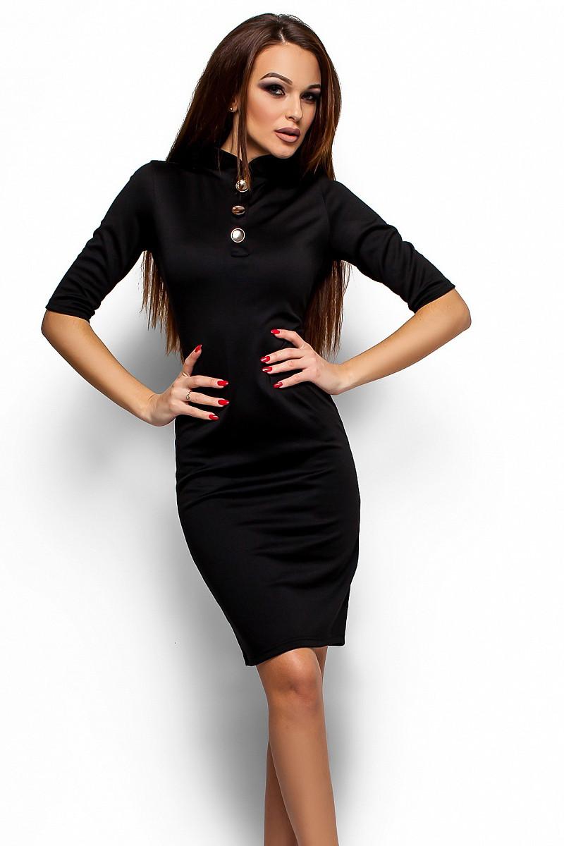 (S, M) Вишукане жіноче чорне плаття Benny