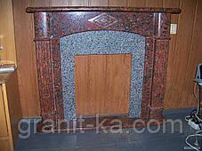 Камин в гостиной из гранита, фото 3