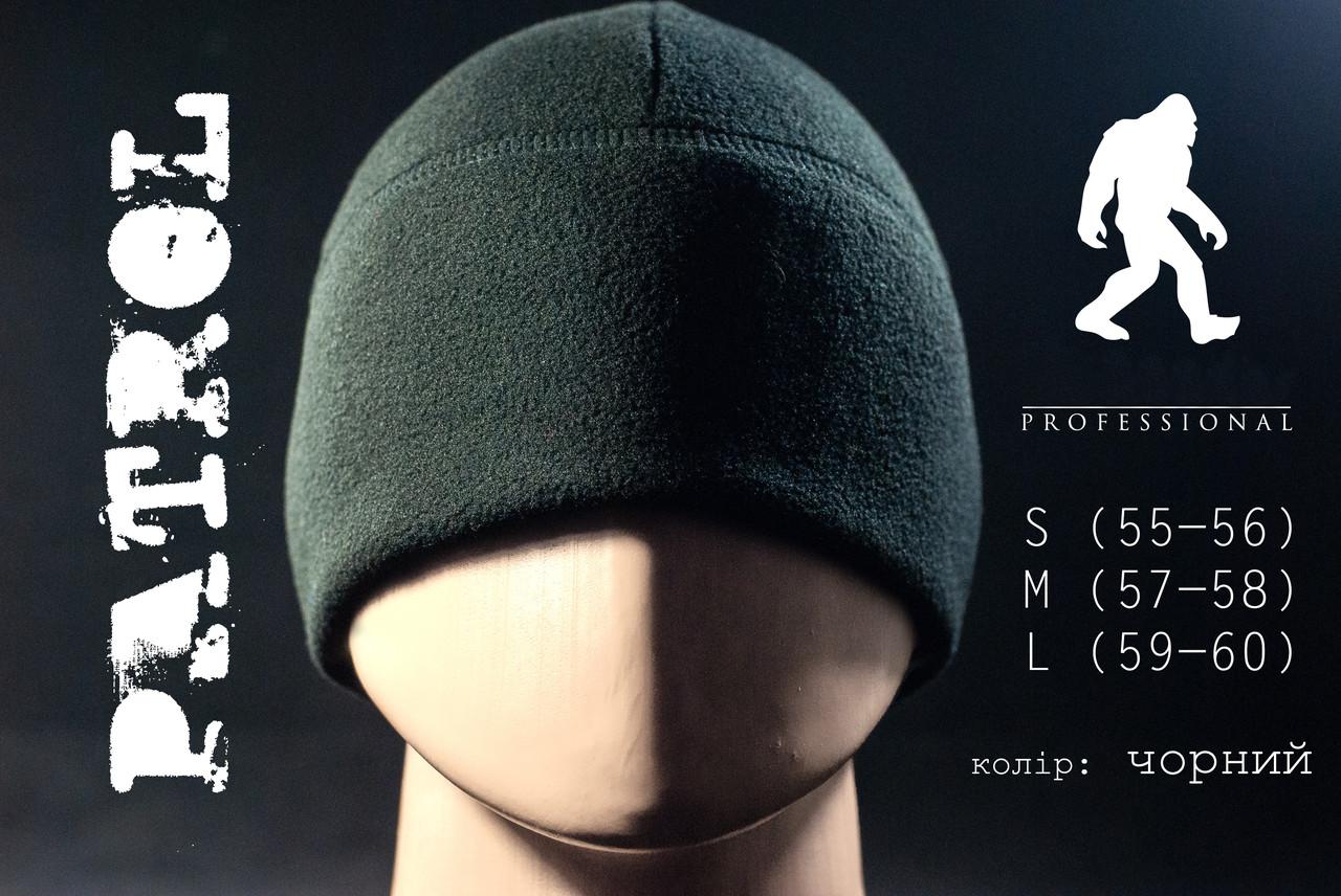 Детская шапка флисовая PATROL цвет черный