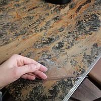 Прозрачное покрытие на гранитный стол либо на каменную столешницу, прозоре покриття, ширина 1,37 м