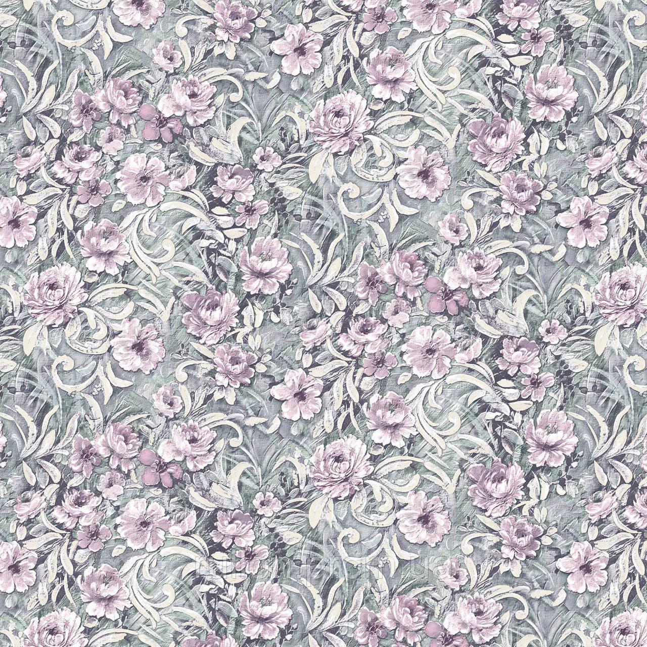 Victoria Stenova, коллекция SANTA-BARBARA,Обои виниловые на флизелиновой основе,для спальни,сиреневые цветы
