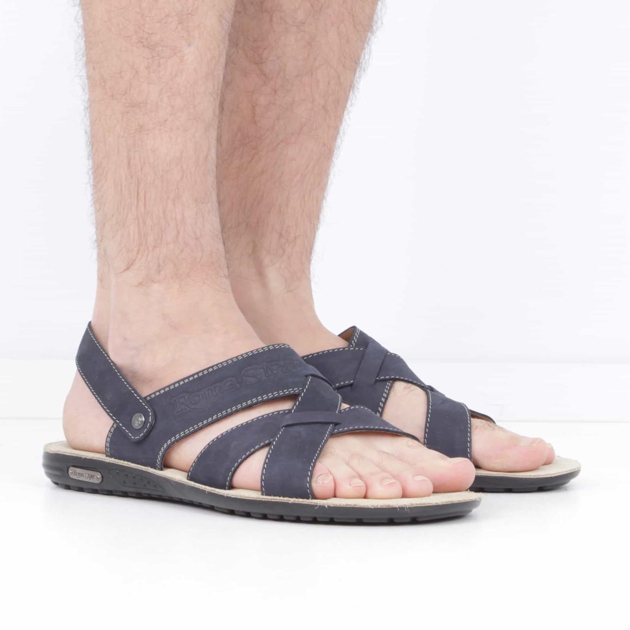 260ad4903 Нубуковые темно-синие сандалии (лето), 40 размер, код UT75645 ...