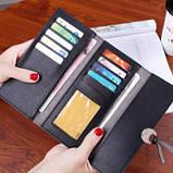 Черный женский кошелек, фото 3
