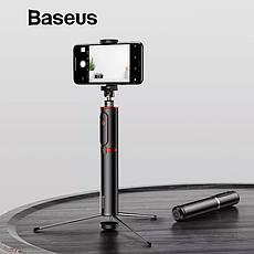 Селфи-стік, монопод для селфи, штатив Baseus з Bluetooth управлінням Black-Silver, фото 2