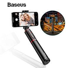 Селфи-стік, монопод для селфи, штатив Baseus з Bluetooth управлінням Black-Silver, фото 3