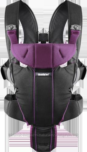Рюкзак-кенгуру BabyBjorn Carrier Miracle (Black/Purple)
