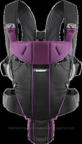 Рюкзак-кенгуру BabyBjorn Carrier Miracle (Black/Purple), фото 2