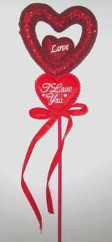 Валентинки на паличці 33 см, Love