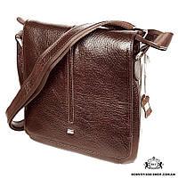 68ac10f1e4d8 Мужская сумка через плечо кожаная Desisan 342-019 мессенджер коричневый