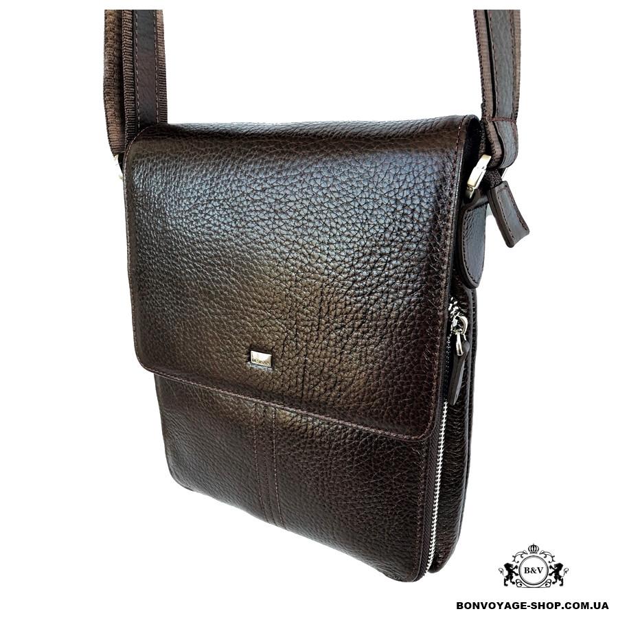 5a193e2a3877 Мужская сумка через плечо кожаная Desisan 349-019 мессенджер коричневый -  Интернет-магазин BON