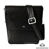 Мужская сумка через плечо кожаная Desisan 3027-01 мессенджер черный 06ba749017974