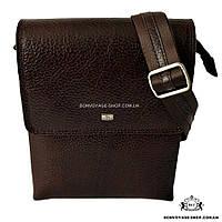 6d66782e4930 Мужская сумка через плечо кожаная Desisan 1463-019 мессенджер коричневый