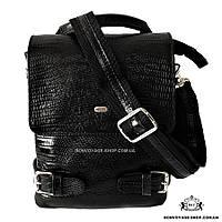 c6098b22b717 Мужская сумка через плечо кожаная Desisan 1338-143 мессенджер с тиснением  черный