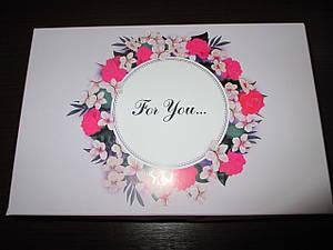 """Коробка подарочная  225*150*60   """"Fou you"""" (для тебя)  светло фиолетовая"""