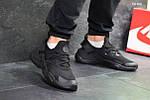 Мужские кроссовки Nike Air Huarache (черные), фото 3