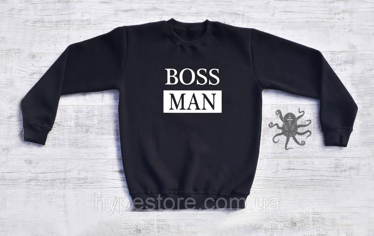 Мужской спортивный свитшот, кофта, лонгслив, реглан Hugo Boss Man, Реплика